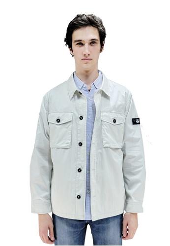 East Pole beige Men's Denim Style Jacket 86FF0AAF6B8E8EGS_1