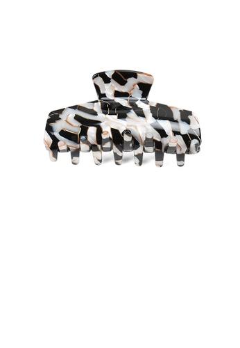 Glamorousky black and white Fashion Elegant Black and White Pattern Geometric Hair Claw B77FEAC7FBB23EGS_1