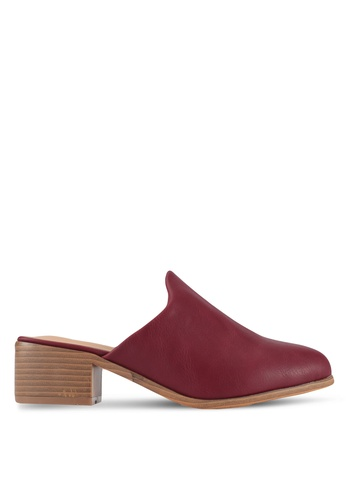 Something Borrowed red Slip On mules 27857SH53CCEFAGS_1