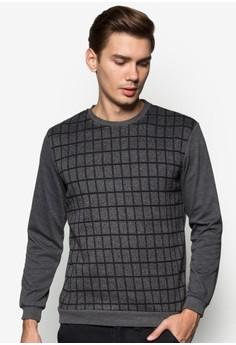 XM-Checkered Front Sweatshirt