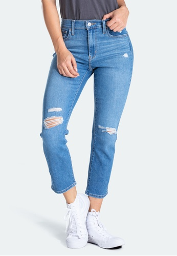 Levi's blue Levi's 724 High Rise Straight Cropped Jeans 58825-0056 0644FAAE62AE1BGS_1