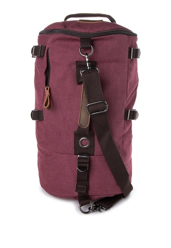 Chase Fashion red and purple Timmy 3-in-1 Travel Canvas Backpack CH547AC18FIZPH_1