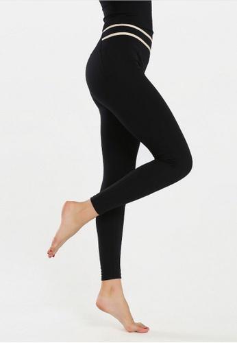 B-Code black ZYG3069-Lady Quick Drying Running Fitness Yoga Sports Leggings -Black 789F1AA8221E3DGS_1
