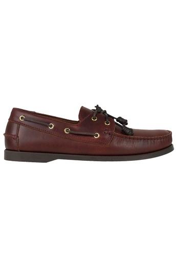 Tomaz red Tomaz C328 Leather Boat Shoes (Wine) 5D466SHBCD4DE2GS_1