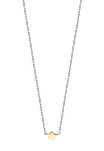 ESPRIT gold ESPRIT [Stellar Petite] Two-Tone Silver & Gold Sterling Silver Necklace (42 cm + 3 cm extension) 7F09FAC71CA799GS_1