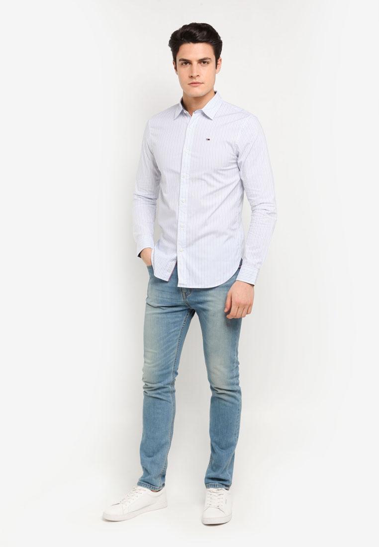 L Tommy TJM SHIRT STP 16 WHITE BASIC S SLS Jeans CLASSIC RA7AIHf