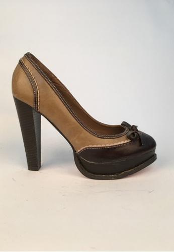 Sunnydaysweety 褐色 限量秒殺品 - 斷碼特價蝴蝶結Lace高跟鞋C013008 SU395SH08ZPQTW_1