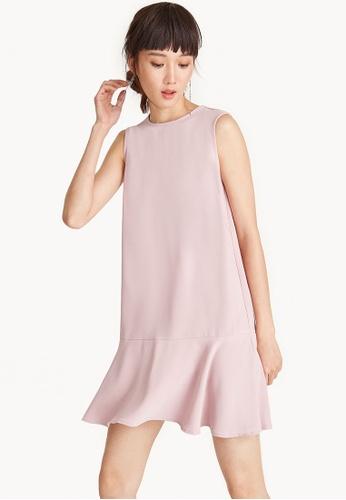 Pomelo pink Mini Sleeveless Flounce Hem Dress - Pink 7A9C2AA6F2CA1CGS_1