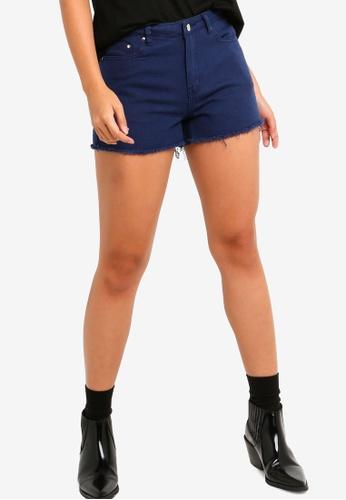 Something Borrowed blue Colored Denim Shorts E3F56AAEF79DC5GS_1
