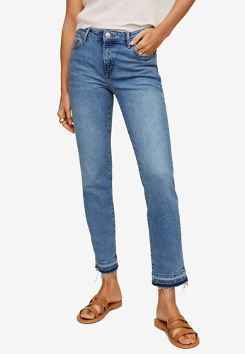 Mango blue Cropped Skinny Jeans 03AD2AAF8DC22EGS_1