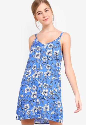 Something Borrowed 藍色 Contrast Striped Cami Dress 1F2F0AA643493DGS_1