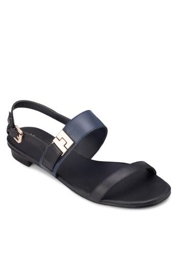 雙色平底涼鞋, 女鞋, esprit holdings涼鞋