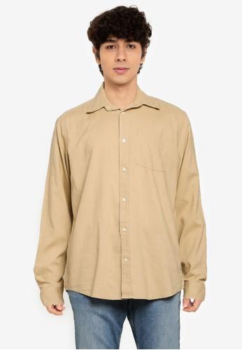 Gap beige 21 Linen Cotton Shirt AA0B8AA42F7FEFGS_1