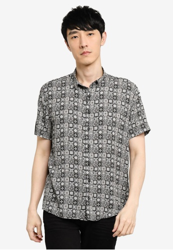 KOTON black Printed Shirt BE376AAAD24FE1GS_1