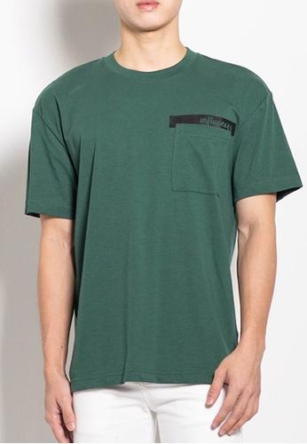 SUB green Men Oversized Fashion Tee with Pocket C739EAA2461FD3GS_1