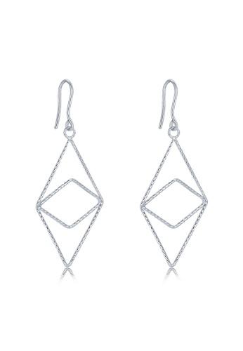 MaBelle silver 14K 585 White Gold Eye of Soul Hook Earrings 4B4F6AC1EE9DEEGS_1