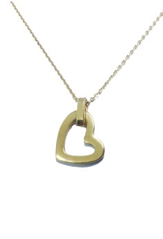 Stainless Steel Heart Necklace (SWG)