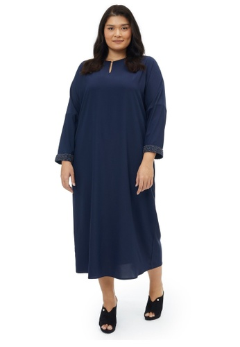 MS. READ navy Embellished Dress, - 6 Sizes (Navy) 957D5AAD9EFED2GS_1