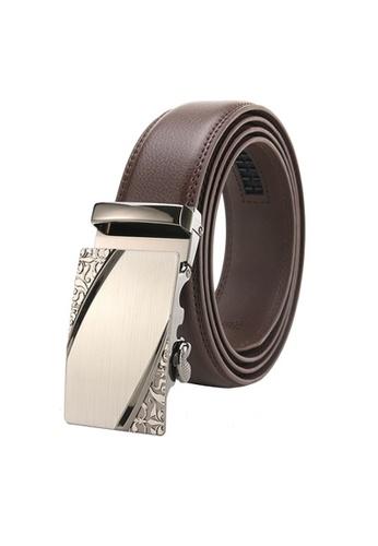 Twenty Eight Shoes brown VANSA Fashion Leather Automatic Buckle Belt  VAM-Bt007 26468AC87C8587GS_1
