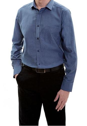 Goldlion blue Goldlion Long-Sleeved Shirt 6E03AAAA1E2123GS_1