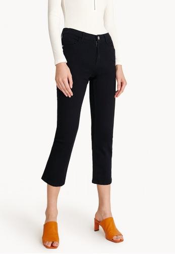 Pomelo black Cropped Dark Denim Jeans F099BAA3939FEFGS_1