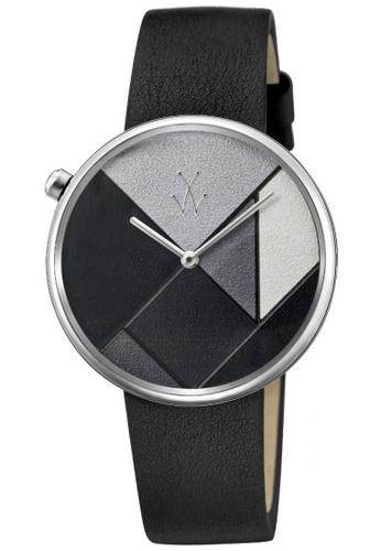 ToyWatch black Toywatch Tangram TYTAN05BK Black Leather Strap Black Tangram Dial Men / Women Watch TO276AC54COJMY_1