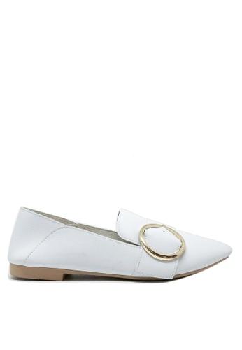 Twenty Eight Shoes 白色 小方頭大鈕Loafers 1140-67 285C2SHDA6EA52GS_1
