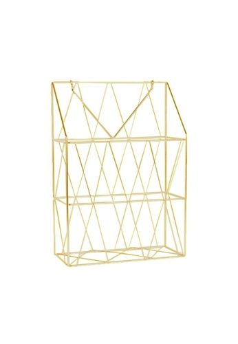 DILAS HOME Hanging Magazine Holder (Gold) F1E9AHL2A3FEEDGS_1