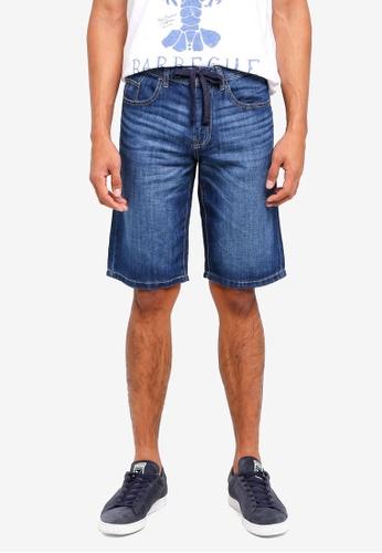 ESPRIT 藍色 Denim Regular Shorts 27156AA96B732EGS_1