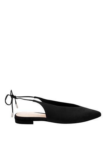 SCHUTZ black Black Nubuck Ballerina Shoes - PERCEFI [BLACK] 36E79SH36C84EAGS_1