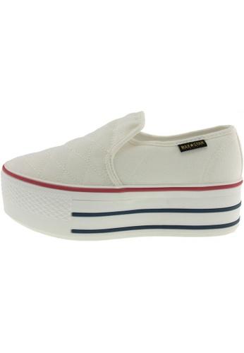 Maxstar 白色 新款韩国鞋C50-Stitch時尚帆布布混合女白色 US Women Size MA345SH16GWLTW_1