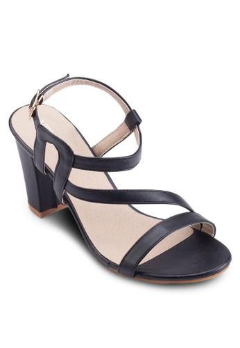 Cristal Stesprit台灣網頁rappy Chunky Heels, 女鞋, 細帶高跟鞋