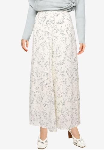 LOWRYS FARM white Print Skirt B8D39AAD096F5DGS_1