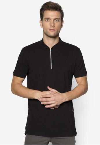 Elon 拉鍊半開襟立領TEE, 服飾esprit tst, 服飾