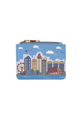 Klosh blue Singapore Memories Collection - SG Skyline Card Case F80F9AC5BCC8B2GS_1