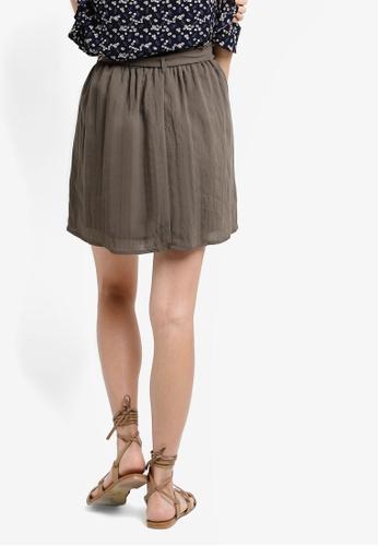 ZALORA green Love Paper Bag Mini Skirt DA5BAAA6A8AB31GS_1