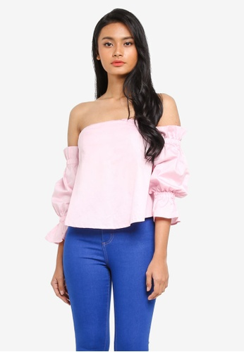 39c7fec4eeb Buy Preen & Proper Cold Shoulder Bustier Top Online on ZALORA Singapore