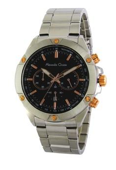 harga Alexandre Christie Jam Tangan Pria Chronograph AC 6458MC SS BL GLD - Silver Zalora.co.id