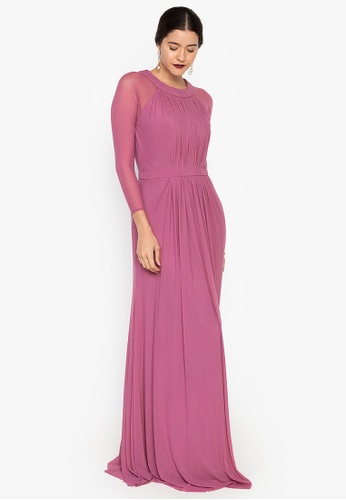 Tantease purple Verona Long Dress 76B9BAA052B8D0GS_1