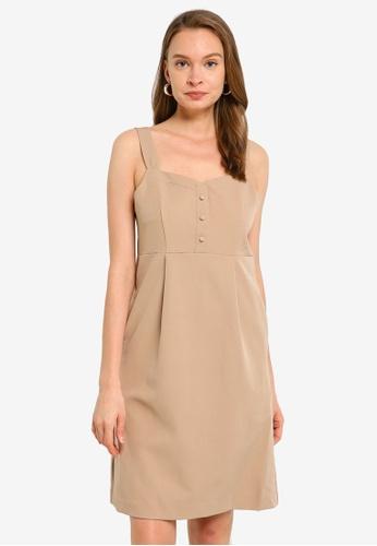 Heather beige Woven Mini Dress 8A507AA2EA9E76GS_1
