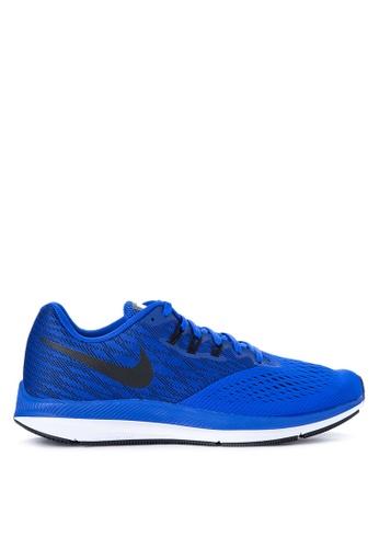 Nike blue Men's Nike Air Zoom Winflo 4 Running Shoes NI126SH0JWA0PH_1