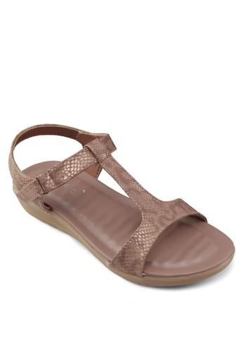 T字帶楔形跟esprit門市地址涼鞋, 女鞋, 涼鞋