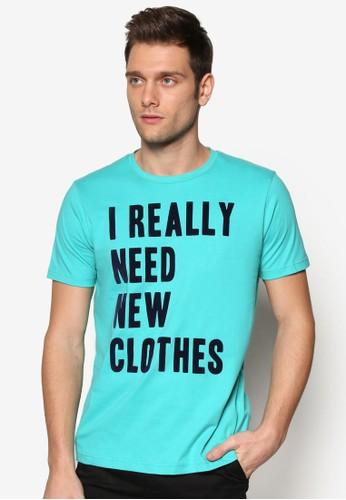 文字設計短袖TEesprit 旺角E, 服飾, 印圖T恤