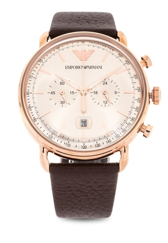 7f828432150d Shop Emporio Armani Aviator Chronograph Watch Ar11106 Online on ZALORA  Philippines