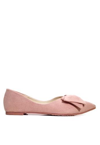 Twenty Eight Shoes pink Point Toe Bow Ballerinas VL168 BA1F4SHD9384B1GS_1