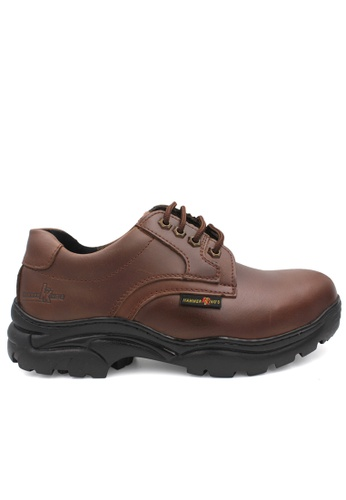 midzone brown HAMMER KING Safety Genuine Leather Low Cut MZHK13012 Brown 82763SH17C93B1GS_1