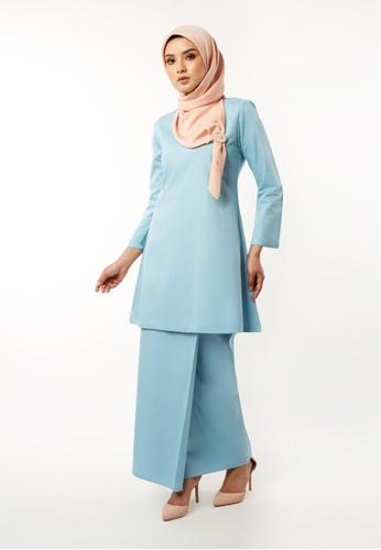 Inhanna blue GULINEAR Kurung Riau Baby Blue F3C3FAA8E9F1A4GS_1