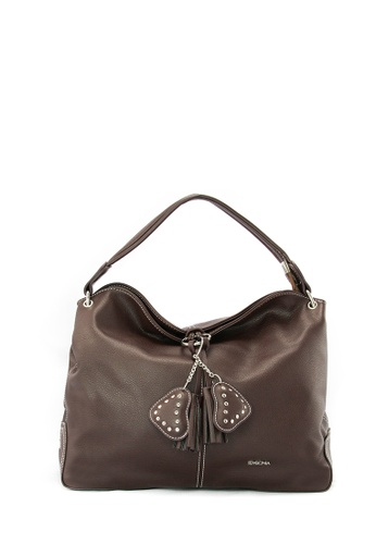 SEMBONIA brown SEMBONIA Basic Leather Satchel Bag (Dark Brown) CDFC5ACE771110GS_1