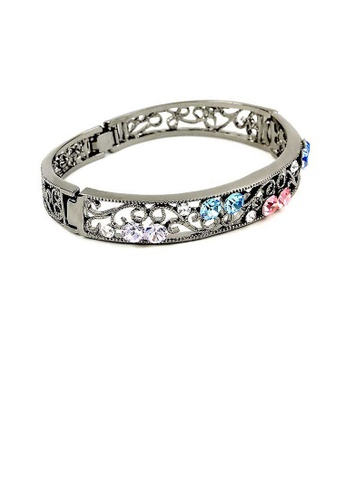 Glamorousky multi Elegant Bangle with Multi-color Austrian Element Crystals 88FC6ACE0C2F0AGS_1