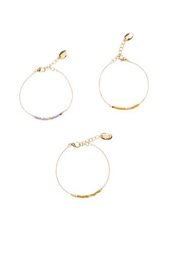 Mango gold Mixed Bracelet Set 65B2AACFEF33CBGS_1